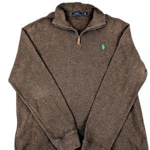 Mens Polo Ralph Lauren 1/4 Zip Sweater sz Large